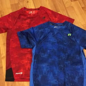 Youth large 10-12 athletic t shirts blue & red